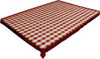 adt saral Checkered 6 Seater Table Cover(Multicolor, Cotton)