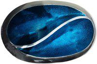 Brass Gift Center Aluminium Two Pot Ambose Dish Platter Aluminium Decorative Platter(Blue, Silver)