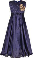 Aarika Girls' A-Line Maxi Dress (MD-704_Blue_5-6 Years)
