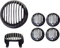Almos Grill Set for Bajaj Avenger 220 DTS i-Tail light+Indicator For Bike Headlight Grill(Black)
