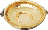 Brass Gift Center Urli Brass Decorative Platter(Yellow)