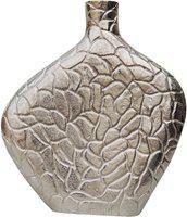 Brass Gift Center Flower Pot Aluminium Vase(11 inch, Silver)