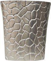 Brass Gift Center Aluminium Flower pot Aluminium Vase(8.5 inch, Silver)