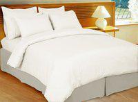 Just Linen King Cotton Duvet Cover(White)