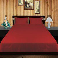 Just Linen Single Cotton Duvet Cover(Red)