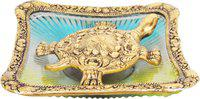 Brass Gift Center Tortoise (Kachua) Tray Showpiece  -  4 cm(Aluminium, Multicolor)
