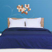 Just Linen Queen Cotton Duvet Cover(Blue)