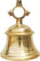 Brass Gift Center B Brass Pooja Bell(Yellow)