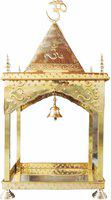Brass Gift Center Triangle Dome Brass Home Temple(Height: 112 cm)