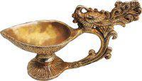 Brass Gift Center Deepak Brass Table Diya(Height: 3.5 inch)