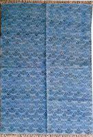 Poonam Arts Blue Cotton Area Rug(120 cm X 180 cm)