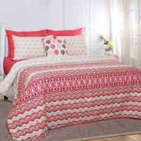 Maspar King Cotton Duvet Cover(Red)