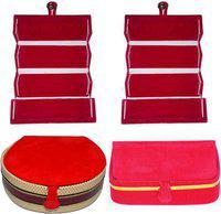 Aadhya combo of bangle & earring folder pack of 4 Vanity Box(Multicolor)