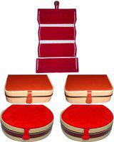 Aadhya Combo of Ring,Bangle& Earring Folder Pack of 5 Vanity Box(Multicolor)