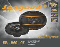 Songbird 6''x9'' Oval 600W Max 3 way GOLD SERIES SUPER BASS SB-B69-07 Coaxial Car Speaker(600 W)