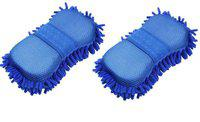 Andride Car Microfibre Chenile Duster With Sponge and Strong Grip,2 in 1 Regular Sponge(Pack of 2)