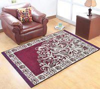 Hargunz Purple Chenille Carpet(152 cm X 213 cm)
