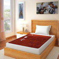 Home Elite Plain Single Electric Blanket(Polyester, Orange)