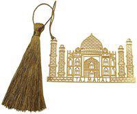 Skywalk Art & Craft Taj Mahal India Metal Bookmark with Tassel Metal clip Bookmark(Taj Mahal, Gold)