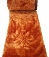 Shopping Store Plain Double Mink Blanket(Polyester, Brown)