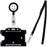 FINDSTUFF Plastic ID Badge Reel, ID Badge Holder, Lanyard(Pack of 1)
