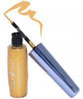 Color Fever Waterproof & Smudge Proof Liquid Eye Liner - Just Gold 7 ml(Gold)