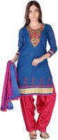 Aavaya Fashion Chanderi Embroidered Salwar Suit Dupatta Material(Un-stitched)