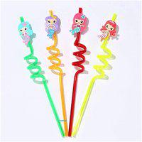 QUAPRO Crazy Drinking Straw(Multicolor, Pack of 4)