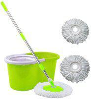 Kitchen India Clean Floor Magic Bucket With 3 Absorbers Mop Set