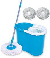 Kitchen India Easy To Clean Floor Magic Bucket With 3 Absorbers Mop Set