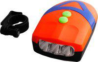 Asraw Bicycle 3 LED 3 Mode Front Light & Horn Bell(Orange)