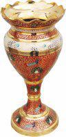 Brass Gift Center Flower Pot Lotus Shape with handwork Brass Vase(12.5 inch, Multicolor)