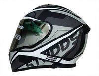Studds THUNDER D4 M/VISOR N6 WHITE Motorbike Helmet(Black)