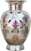 Brass Gift Center Brass Vase(11 inch, Multicolor)