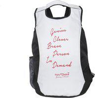 Right Choice (2081)black white super stylish tuff quality college school bag 5 L Backpack(Black, White)