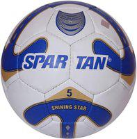 Spartan Shinning Star Football - Size: 5(Pack of 1, Multicolor)