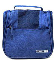 ClickUS New Travel Bag Beauty Make Up Toiletry Wash Bag Zipper Cosmetic Case Organiser Party, Picnic Easy Carrying Travel Toiletry Kit(Blue)