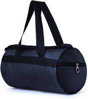 Trend Shoe Pocket Black Gym Bag(Black)