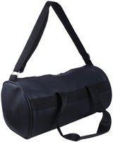 Trend (Expandable) Shoe Pocket Black Gym Bag(Black)
