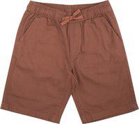 Flying Machine Short For Boys Casual Printed Cotton Blend(Brown, Pack of 1)