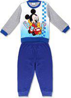 Disney Mickey Boys Pyjama Set Mickey Nightwear Sleepwear Blue (12-18 Months)