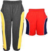 Gkidz Boys Casual Track Pants Shorts(Multicolor)