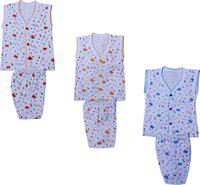 IndiWeaves Baby Boys & Baby Girls Casual Pant T-shirt(Multicolor)