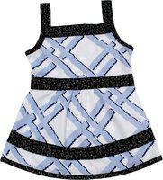 Adt Saral Girls Mini/Short Casual Dress(Multicolor, Noodle strap)