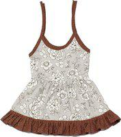 Adt Saral Girls Midi/Knee Length Casual Dress(Multicolor, Noodle strap)