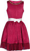 Gini & Jony Girls Midi/Knee Length Casual Dress(Red)