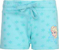 Frozen Short For Girls Casual Graphic Print Cotton Blend(Multicolor, Pack of 1)