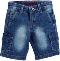 Tonyboy Short For Boys Casual Solid Denim(Blue, Pack of 1)