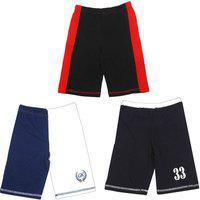 Gkidz Short For Boys Cotton Blend(Multicolor, Pack of 3)