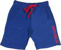 Sera Short For Boys Cotton Linen Blend, Nylon Blend, Cotton Linen Blend(Blue, Pack of 1)